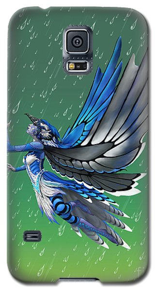 Galaxy S5 Case featuring the digital art Blue Jay Fairy by Stanley Morrison