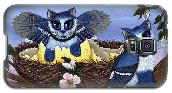 Blue Jay Kittens Galaxy S5 Case