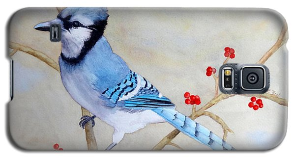 Galaxy S5 Case featuring the painting Blue Jay by Laurel Best
