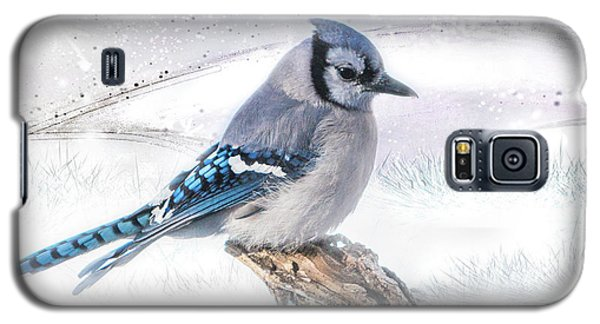 Blue Jay Snow Galaxy S5 Case
