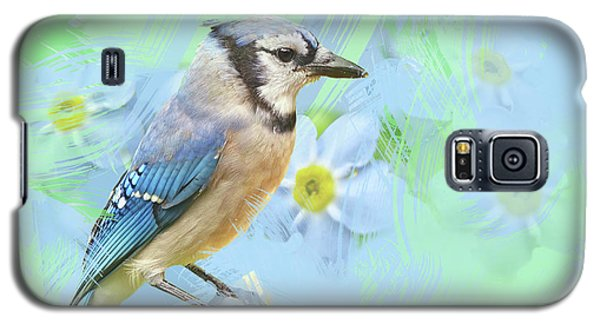 Galaxy S5 Case featuring the photograph Blue Jay Watercolor Photo by Heidi Hermes