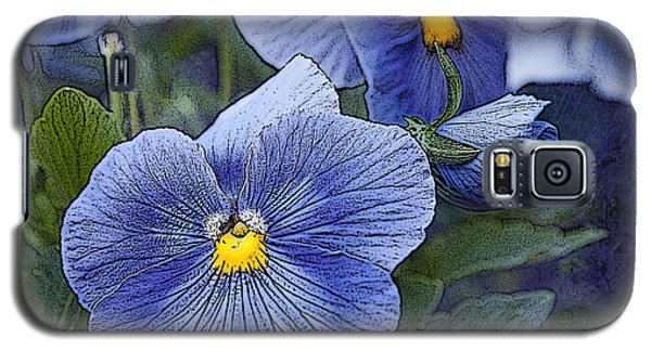 Galaxy S5 Case featuring the photograph Blue Ladies by Terri Harper