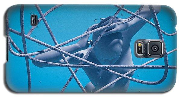 Galaxy S5 Case featuring the digital art Blue Lady by Shinji K