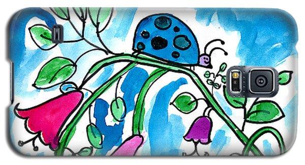 Blue Ladybug Galaxy S5 Case