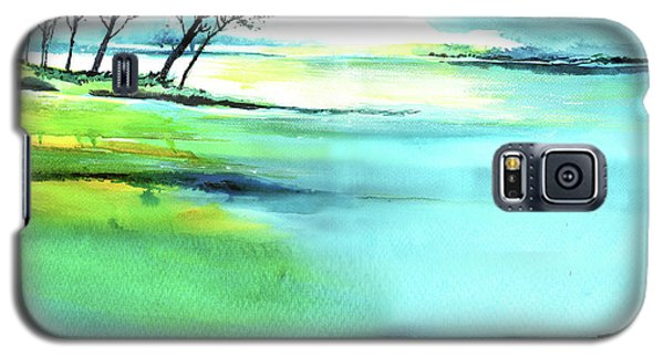 Galaxy S5 Case featuring the painting Blue Lagoon by Anil Nene