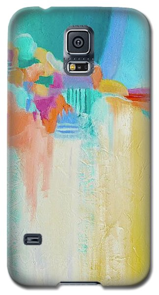 Galaxy S5 Case featuring the painting Blue Lagoon by Irene Hurdle