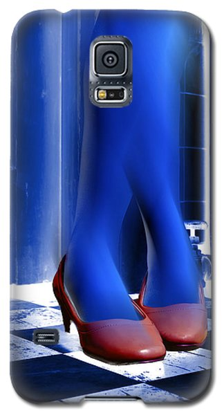 Galaxy S5 Case featuring the photograph Blue Legs And Red Shoes by Kellice Swaggerty
