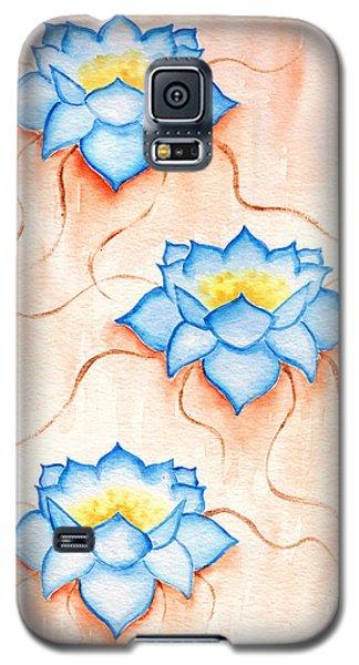 Blue Lilies Galaxy S5 Case