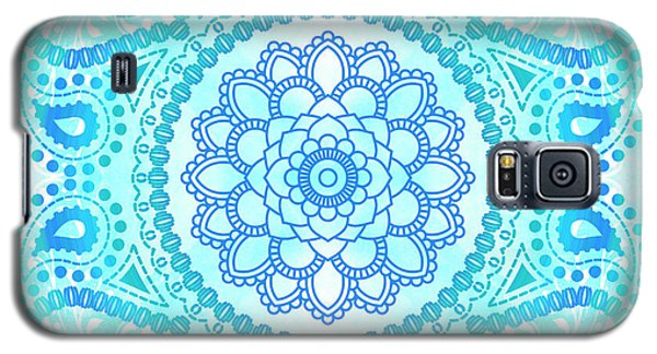 Galaxy S5 Case featuring the painting Blue Lotus Mandala by Tammy Wetzel
