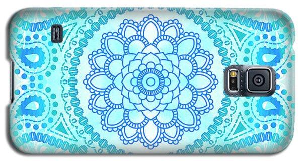 Blue Lotus Mandala Galaxy S5 Case by Tammy Wetzel