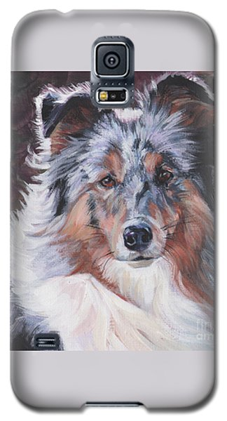 Galaxy S5 Case featuring the painting Blue Merle Sheltie by Lee Ann Shepard