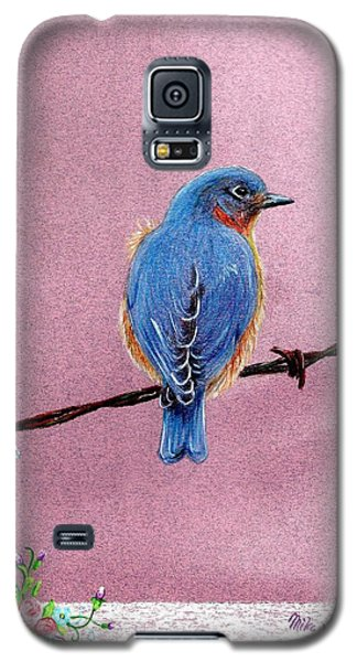 Galaxy S5 Case featuring the drawing Blue by Mike Ivey