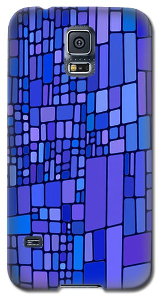 Blue Mondrian Galaxy S5 Case