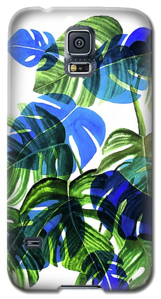 Blue Monstera Galaxy S5 Case