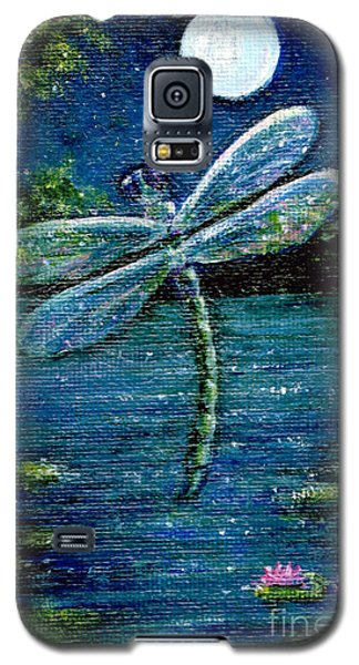 Galaxy S5 Case featuring the painting Blue Moon Dragonfly by Sandra Estes