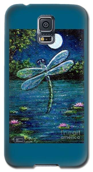 Blue Moon Dragonfly Galaxy S5 Case by Sandra Estes