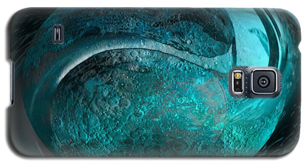 Galaxy S5 Case featuring the digital art Blue Moon by Kevin Caudill