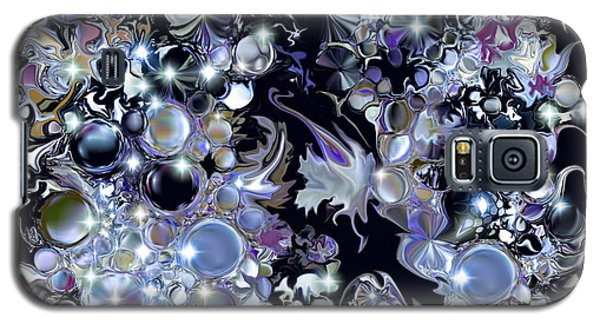 Galaxy S5 Case featuring the digital art Blue Moon by Loxi Sibley