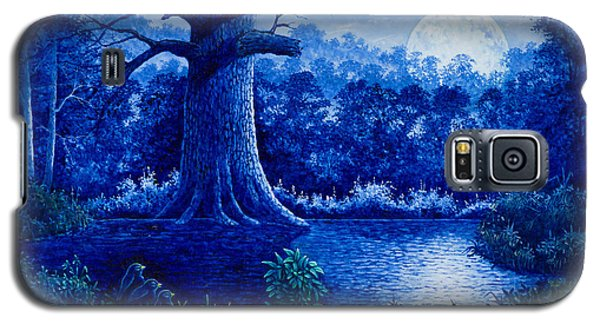 Galaxy S5 Case featuring the painting Blue Moon by Michael Frank