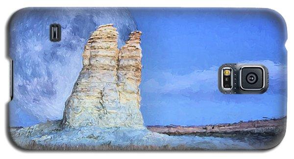 Blue Moon Over Castle Rock Galaxy S5 Case