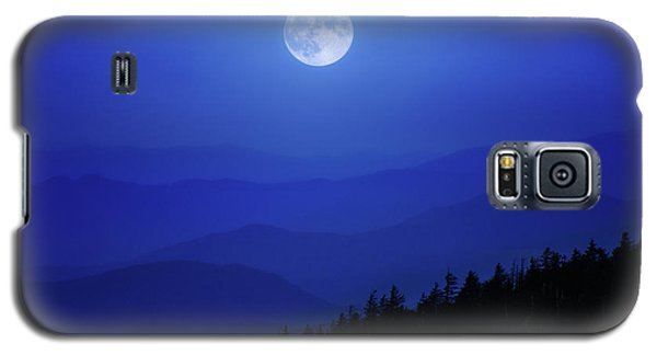 Blue Moon Over Smoky Mountains Galaxy S5 Case