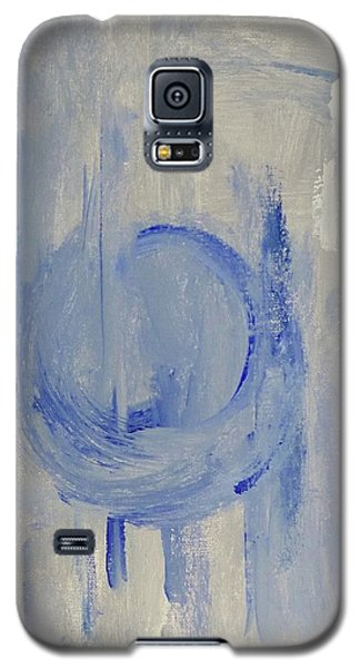 Galaxy S5 Case featuring the painting Blue Moon by Victoria Lakes