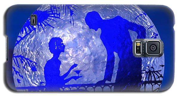 Blue Moonlight Lovers Galaxy S5 Case