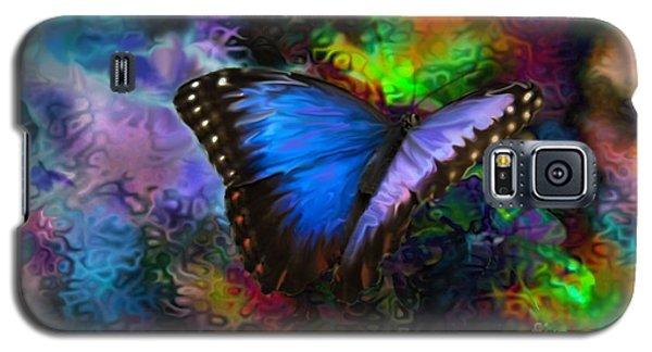 Blue Morpho Butterfly Galaxy S5 Case by Annie Zeno