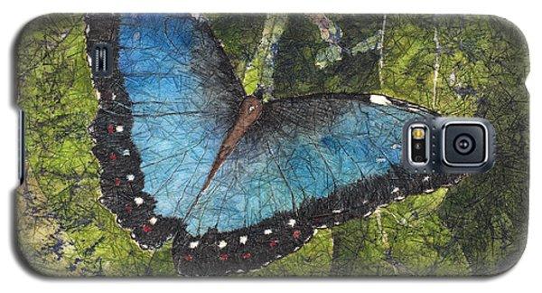 Blue Morpho Butterfly Batik Galaxy S5 Case
