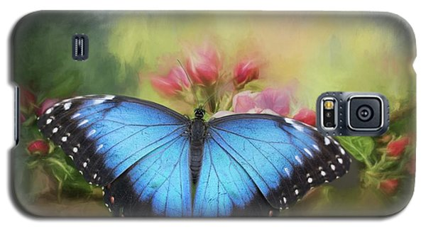 Blue Morpho On A Blossom Galaxy S5 Case