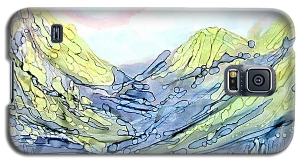 Blue Mountains Alcohol Inks  Galaxy S5 Case
