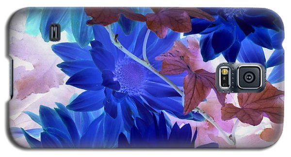 Blue Mums With Purple Ivy Galaxy S5 Case