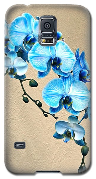 Blue Mystique Orchid Galaxy S5 Case by Byron Varvarigos