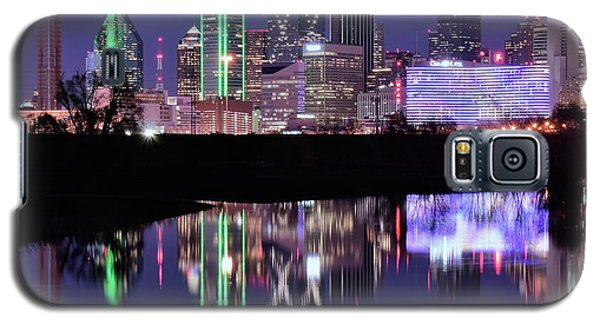 Galaxy S5 Case featuring the photograph Blue Night And Reflections In Dallas by Frozen in Time Fine Art Photography