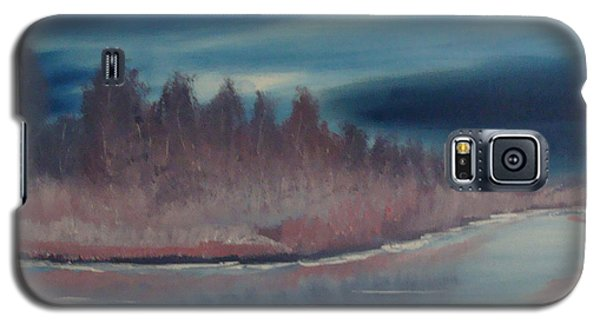 Galaxy S5 Case featuring the painting Blue Nightfall Evening by Rod Jellison