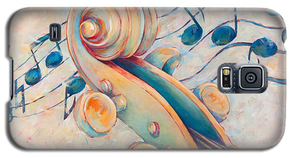 Violin Galaxy S5 Case - Blue Notes by Susanne Clark