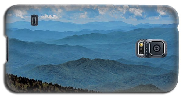 Blue On Blue - Great Smoky Mountains Galaxy S5 Case by Nikolyn McDonald