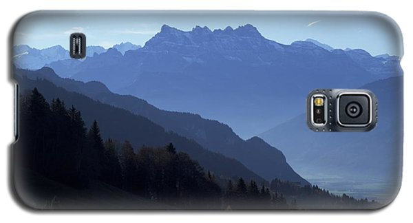 Galaxy S5 Case featuring the photograph Blue On Blue-- Les Dents Du Midi  by Colleen Williams