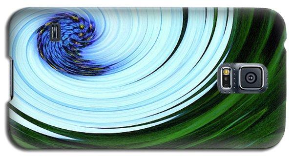 Blue On Flower Galaxy S5 Case
