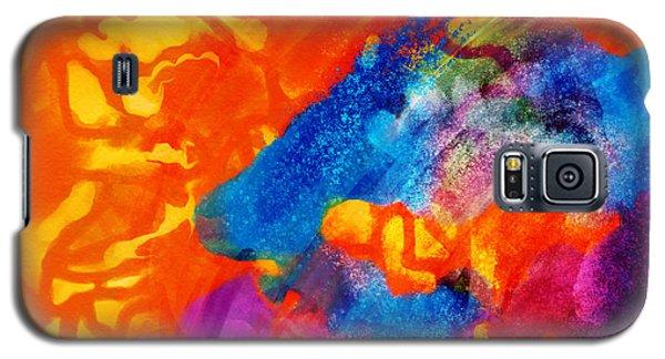 Blue On Orange Galaxy S5 Case
