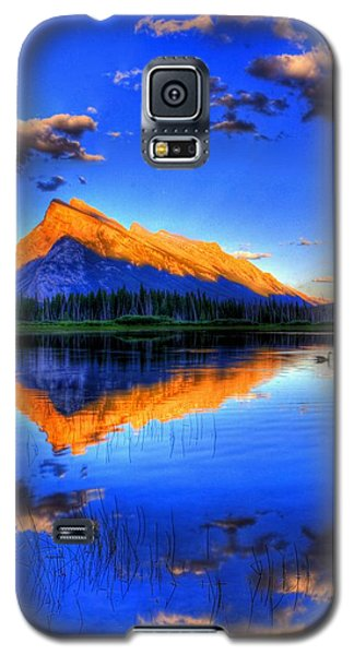 Galaxy S5 Case featuring the photograph Blue Orange Mountain by Test Testerton