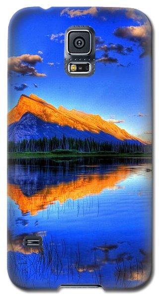 Blue Orange Mountain Galaxy S5 Case