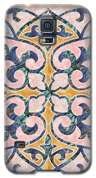 Blue Oriental Tile 01 Galaxy S5 Case