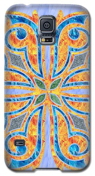 Blue Oriental Tile 02 Galaxy S5 Case