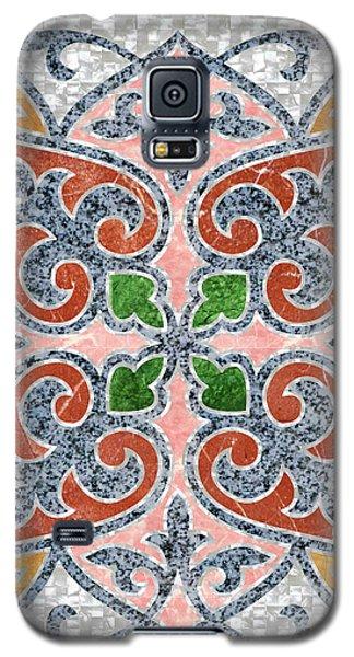 Blue Oriental Tile 03 Galaxy S5 Case