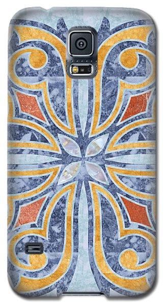 Blue Oriental Tile 04 Galaxy S5 Case