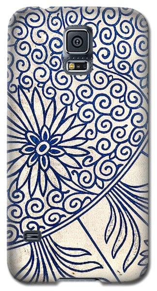 Blue Oriental Vintage Tile 01 Galaxy S5 Case