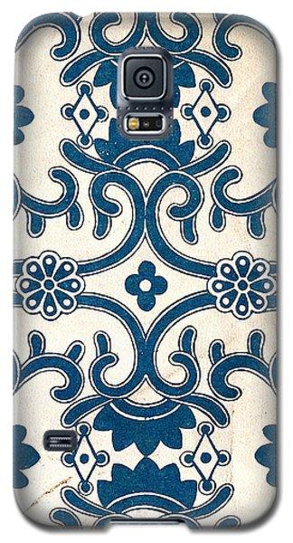 Blue Oriental Vintage Tile 02 Galaxy S5 Case