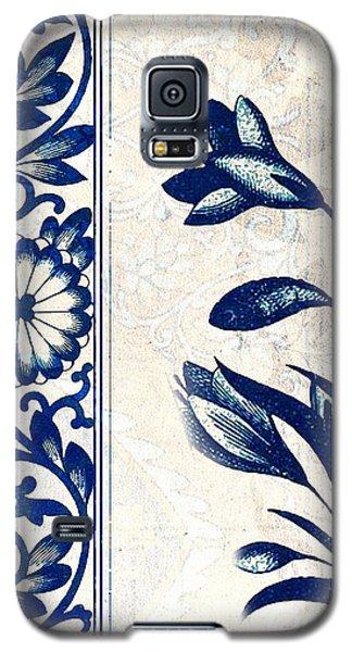 Blue Oriental Vintage Tile 03 Galaxy S5 Case