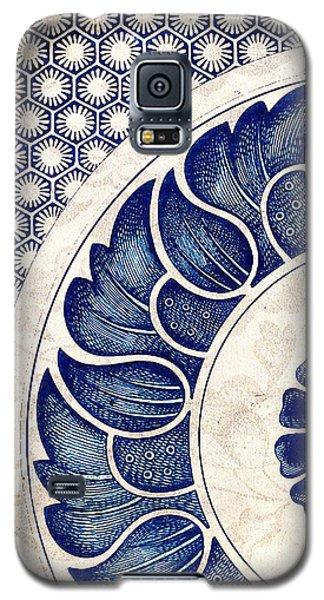 Blue Oriental Vintage Tile 05 Galaxy S5 Case